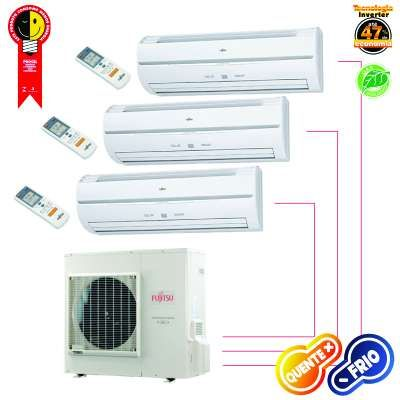 Ar Condicionado 220v Quente/Frio 24.000 Btus/h Multi Split Hi-Wall Inverter Fujitsu AOBA24LAT3