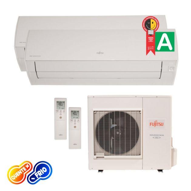 Ar Condicionado Bi Split Inverter 2x 12000 Btus Fujitsu Quente/Frio 220v