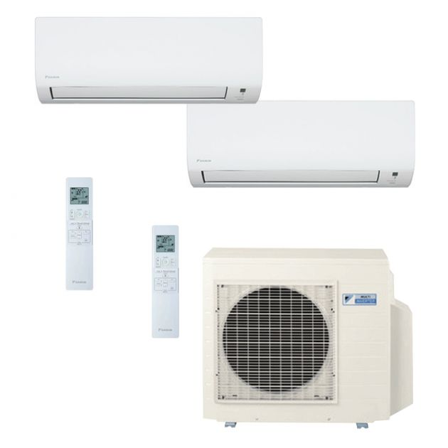 Ar Condicionado Daikin Multi Split Inverter 18.000 BTU/h (1x 09.000 e 1x 12.000) - Quente/Frio 220V