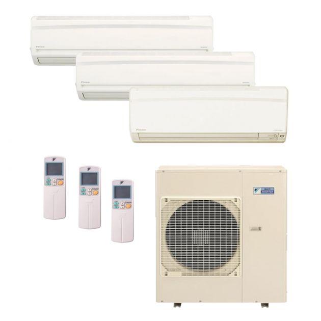 Ar Condicionado Daikin Multi Split Inverter 38.000 BTU/h (1x 12.000 2x 21.000) - Quente/Frio 220V
