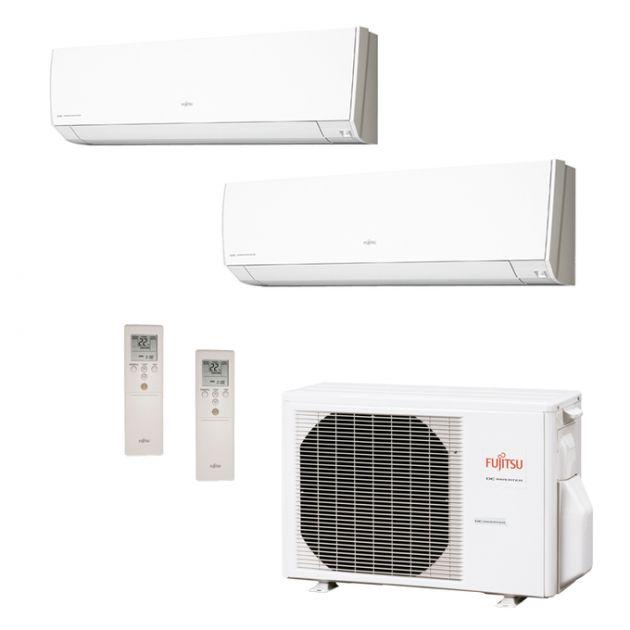 Ar Condicionado Multi Split Inverter Fujitsu Série G 18.000 BTU/h (2x 12.000) Quente/Frio 220V