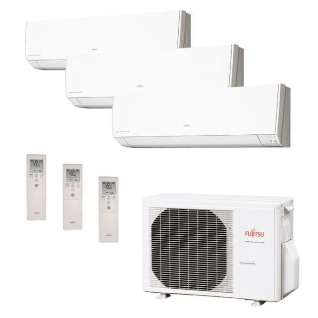 Ar Condicionado Multi Split Inverter Fujitsu Série G 24.000 BTU/h (2x 12.000 e 1x 07.000) Quente/Fri