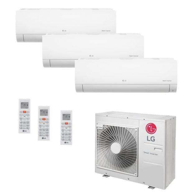 Ar Condicionado Multi-Split LG Inverter 30.000 BTU/h (1x 7.200 e 2x 11.900) Quente/Frio 220V
