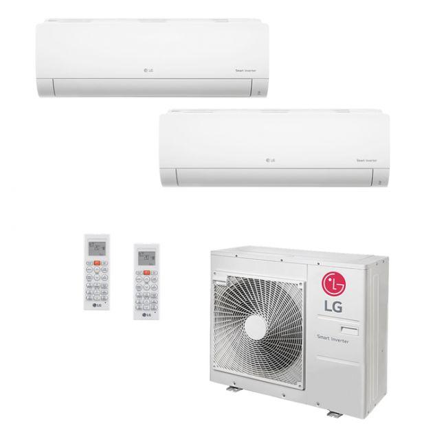 Ar Condicionado Multi-Split LG Inverter 30.000 BTU/h (1x 8.500 e 1x 22.500) Quente/Frio 220V