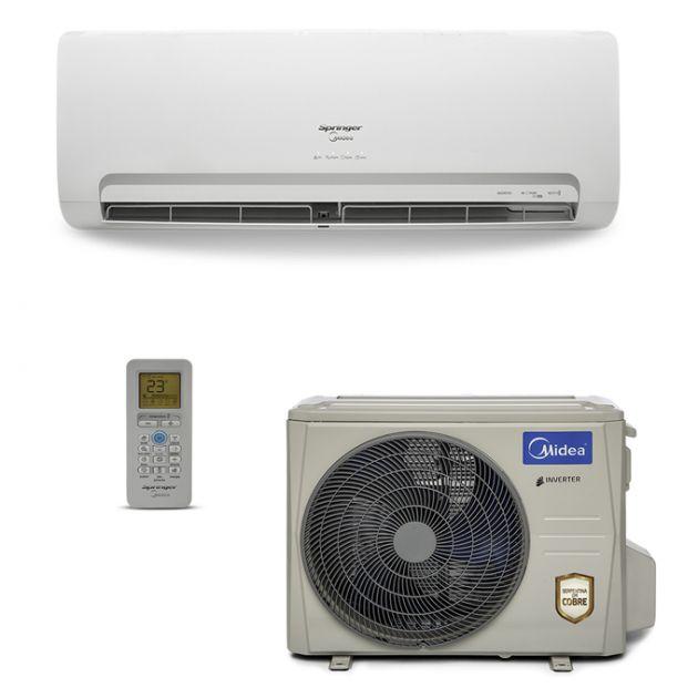 Ar Condicionado Split Hi-Wall Springer Midea Inverter 9.000 BTU/h Quente/Frio 220V