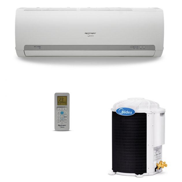Ar Condicionado Split Hi Wall Springer Midea R410-A 9.000 Btu/h Quente/Frio 220v 42MAQA09S5