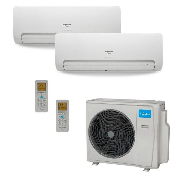 Ar Condicionado Springer Midea Multi-Split Inverter 18.000 BTU/h (2x 9.000) Quente/Frio 220v