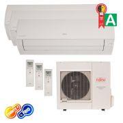 Ar Condicionado Tri Split Inverter 2x 9000 1x 12000 Btus Fujitsu Quente/Frio 220v